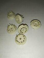 Socket Support Noval Ceramic tube B9A 9 pin Philips Nos Lot 6 Pcs DepH16/15h4/3
