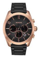New Nixon Women's 'Bullet Chrono' Quartz Black  Metal Watch A3662481
