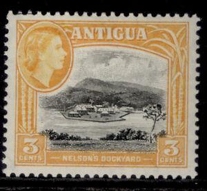 ANTIGUA QEII SG123a, 3c black & yellow-orange, M MINT.