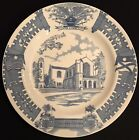 """1956 WEDGWOOD-""""THE SUMMERALL CHAPEL"""" THE CITADEL COLLEGE OF S.C.-10 3/8""""PLATE"""