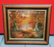 More details for oil painting on canvas autumn leaves forest hunting by g (george) ashley hunter