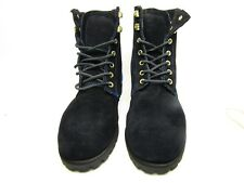 Sebago Womens Astoria B50128 Slip Resistant Ankle Boot Shoes Black/Royal Sz 6.5M