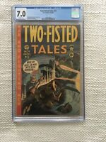 Two Fisted Tales #24 EC COMICS Classic War Comic CGC 7.0 Golden age military