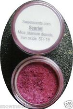 Mineral Makeup  5gm Sweetscents Eye Shadow bare Loose Powder Mica  RED DEEP ROSE