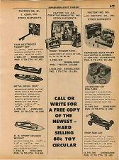 1961 ADVERT Toy Cox War Hawk Comanche Prop Race Car Hot Rod Car Cohn Target Gun