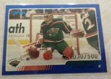2003-04 Topps O-Pee-Chee Blue Jersey # 30/500 MN Wild Dwayne Roloson #43 1 OF 1
