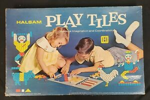 Vintage Halsam Play Tiles 1960s - Good Condition - Review Images