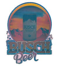 Vintage Busch Beer Can T-Shirt Transfer Original Anheuser NOS