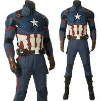 Avengers 4 Endgame Captain America Costume Superhero Cosplay Costume Halloween