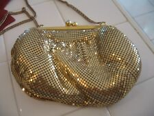 Beautiful Vintage Whiting And Davis Gold Mesh Evening Bag Purse