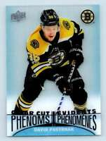 2018-19 Upper Deck Tim Hortons Clear Cut Phenoms David Pastrnak #CC6