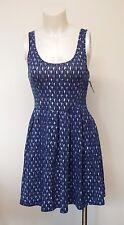 Women Extra Mini Summer Dress Open Back Blue Large Aeropostale Sleeveless
