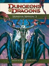 Monster Manual 3 : A 4th Edition D&D Core Rules (2010, Hardcover)