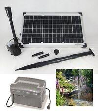 20 W Pompe solaire de bassin d'immersion Ruisseau COULANT Batterie étang jardin