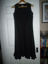 La Strada designed by Sievers. black linen midi dress size 36, UK 10-12