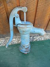 Antique Cast Iron Hand Water Pump in Great Condition Original Blue Finish!