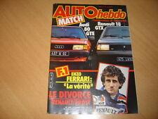Auto hebdo N°392 R18 GTX/Audi 80 GTE.