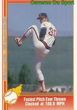 Nolan ryan 029 fastest pitch ever thrown clocked at 100.9mph card pacific 1991-t