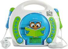 X4-TECH Bobby Joey Eule - Kinder CD-Player MP3 Karaoke Hörbücher 2 Mikrofone