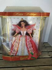 Christmas Barbie 1997 10th Anniversary Happy Holidays Special Edition Brunette
