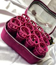 Remington Hot Rollers Pink Set of 24 Heated Rollers Pink Carry Case Used Once