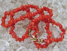 ღ♥Niceღ  Korallen Kette in aus 8kt 333 Gold mit Koralle Gold Collier Chain Coral