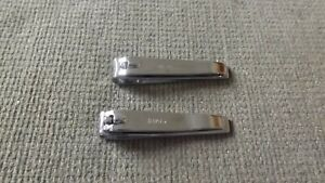 """2 Vintage Trim Bassett Finger Nail Clippers 3 1/4 """" China 15 & USA 86"""