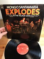 Mongo Santamaria Explodes At The Village Gate Columbia Record Vinyl Album