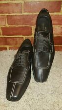 "DONALD PLINER ""RYAN"" Brown calf leather ITALY oxford mens 14M"