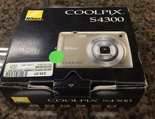 Nikon COOLPIX S4300 16 MP Wide 6X Zoom Touch Screen Digital Camera + Accessories