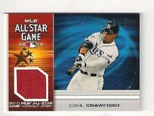 CARL CRAWFORD LOT 0F {2} 2007 & 2010 TOPPS ALL-STAR GAME ALL-STAR GAME JERSEYS