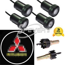 4x Car Door LED Logo Light Ghost Shadow Projector Laser Courtesy For Mitsubishi