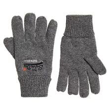 Superdry Mens Orange Label Grey Gloves, One Size, BNWT