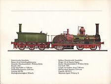 VINTAGE RAILWAY GERMAN TRAIN ENGINES PRINT ~ HANNOVERSCHE STAATSBAHN ~