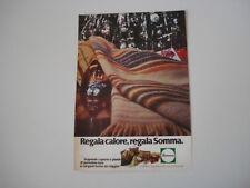 advertising Pubblicità 1980 COPERTE SOMMA
