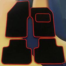 ALFA ROMEO 159  BLACK /  RED EDGE CAR MATS  PREMIER CARPET, SET OF 4  AJJB