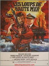 LES LOUPS DE HAUTE MER North Sea Hijack Affiche Cinéma Movie Poster ROGER MOORE