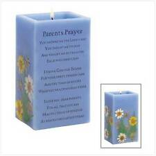"Parents Prayer Candles, Vanilla Scent, 3"" x 2 3/8"" x 5"" high"
