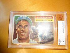1956 Topps #30 Jackie Robinson BVG 1 Brooklyn Dodgers
