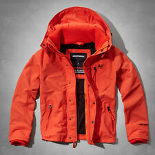 NWT Abercrombie & Fitch Mens A&F All-Season Weather Warrior Jacket Orange Large