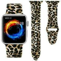 Leopard Silicone Strap Bracelet Watch Band For Apple iWatch Series 5 4 3 2 1