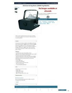 ADJ FogStorm 1200HD - High Output Professional Fog Machine