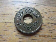 JACKSON  CALIFORNIA  ~ JIM'S CORNER  ~  GOLD RUSH {SALOON}  TOKEN ~ 5 CENTS