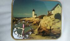 retro wall clock featuring a neat vintage lighthouse scene