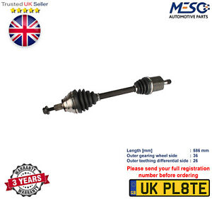DRIVE SHAFT AXLE FOR AUDI A3 1.6 2.0 FSI 2003-2013 LEFT HAND SIDE