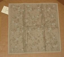 """Pottery Barn ZARI EMBROIDERED BEADED DECORATIVE SOFA TOSS PILLOW COVER 18"""", NEW"""