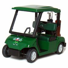 "New 4.5"" Kinsfun Golf Cart w/ Clubs Diecast Metal Model Caddy Toy Car Green"
