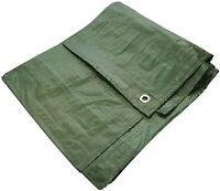 Heavy Duty Waterproof Strong Cover Ground Sheet 6' X 9' Tarpaulin - Green