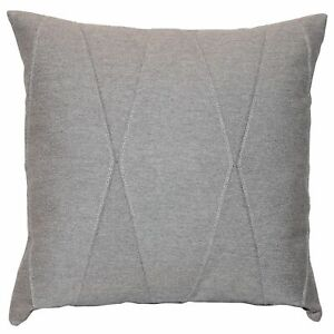 Textured modern throw pillow case cover Applique & Silver Accent Cotton Cushion