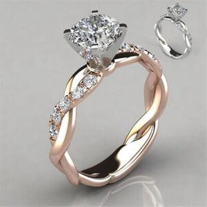 Ring Women Beautiful Fashion Diamond Silver plated Bling Engagement Gift
